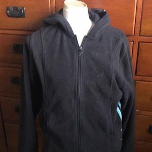 Adidas fleece ladies jacket zip-up hoodie sz XL